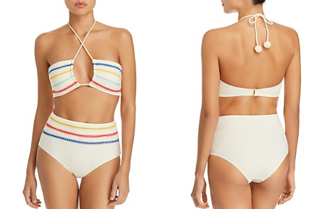 Dolce Vita Kokomo Embroidered Bandeau Bikini Top & High Waist Bikini Bottom - Bloomingdale's_2