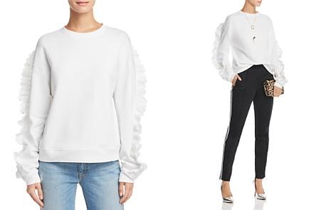 McQ Alexander McQueen Lace-Trimmed Sweatshirt - Bloomingdale's_2