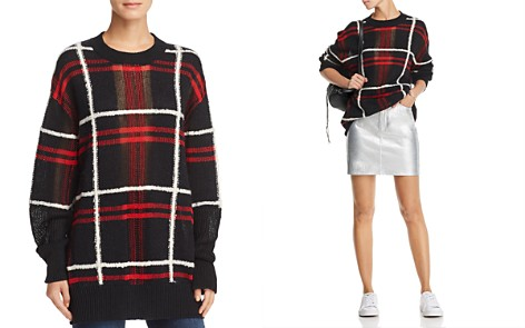 McQ Alexander McQueen Oversize Plaid Sweater - Bloomingdale's_2