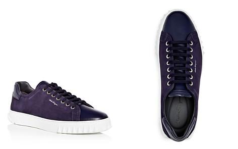 Salvatore Ferragamo Men's Suede & Leather Lace Up Sneakers - Bloomingdale's_2
