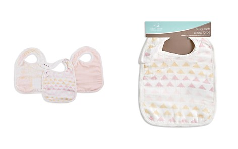 Aden and Anais Cotton Muslin Metallic-Print Bibs, 3 Pack - Bloomingdale's_2