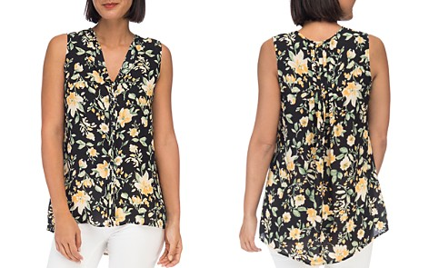 B Collection by Bobeau Lily-Print Pintuck Top - Bloomingdale's_2