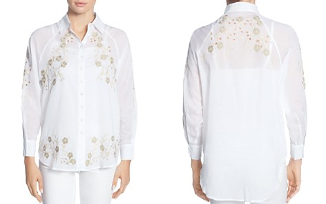 CATHERINE Catherine Malandrino Renzo Embroidered Button-Down Blouse - Bloomingdale's_2