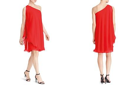 Lauren Ralph Lauren One-Shoulder Georgette Dress - Bloomingdale's_2