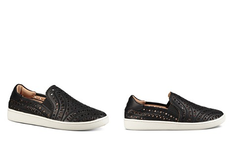 UGG® Women's Cas Perforated Leather Slip-On Sneakers - Bloomingdale's_2