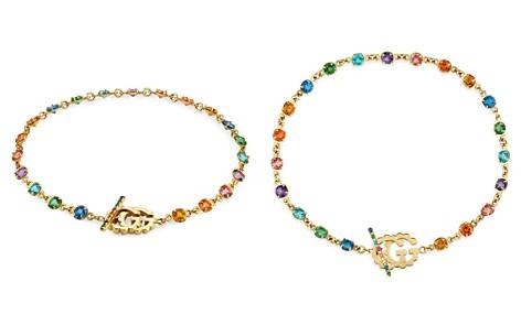 Gucci 18K Yellow Gold GG Running Mixed Gemstone Bracelet - Bloomingdale's_2