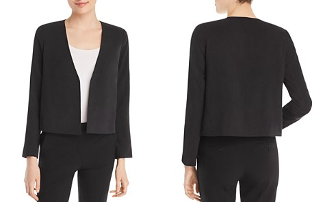 Eileen Fisher Silk Cropped Jacket - Bloomingdale's_2