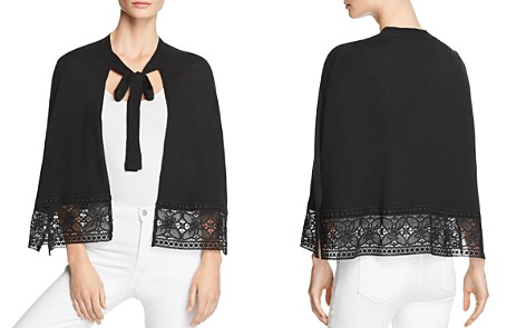 Le Gali Sabine Lace-Trimmed Cape Sweater - 100% Exclusive - Bloomingdale's_2
