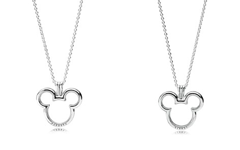 PANDORA Sterling Silver & Cubic Zirconia Disney Mickey Floating Pendant Necklace - Bloomingdale's_2