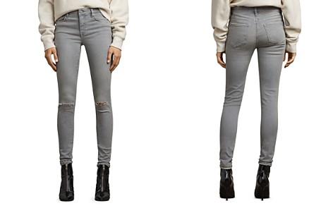 ALLSAINTS Grace Distressed Skinny Jeans in Gray - Bloomingdale's_2
