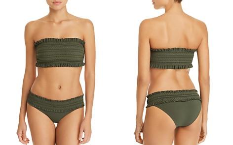 Tory Burch Costa Ruffle Bandeau Bikini Top & Hipster Bikini Bottom - Bloomingdale's_2