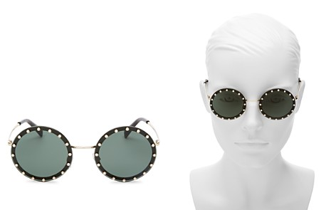 Valentino Embellished Round Sunglasses, 53mm - Bloomingdale's_2