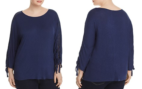 Cupio Plus Lace-Trimmed Top - Bloomingdale's_2