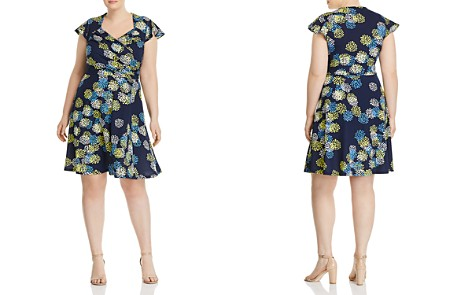 Leota Plus Printed Faux-Wrap Flutter Dress - Bloomingdale's_2