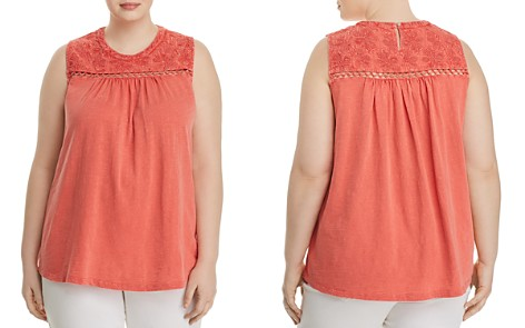 Lucky Brand Plus Embroidered Tank - Bloomingdale's_2
