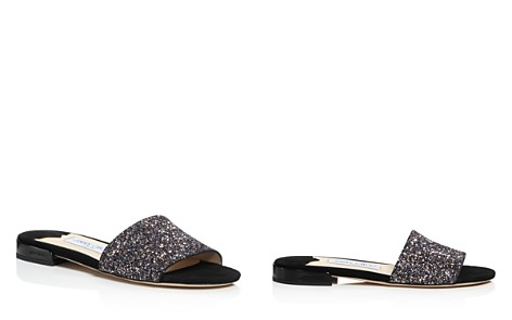 Jimmy Choo Women's Joni Glitter Slide Sandals - Bloomingdale's_2