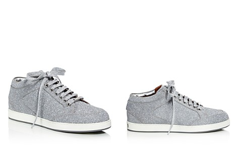 Jimmy Choo Women's Miami Glitter Leather Low Top Lace Up Sneakers - Bloomingdale's_2