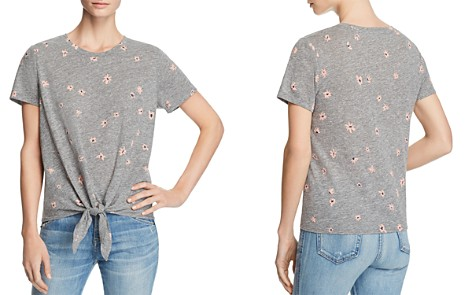 Sundry Daisy Print Tie-Front Tee - 100% Exclusive - Bloomingdale's_2