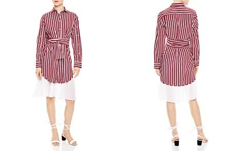 Sandro Mèlia Pleated-Hem Shirt Dress - Bloomingdale's_2