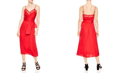 Sandro Ismere Lace-Trim Dress - Bloomingdale's_2