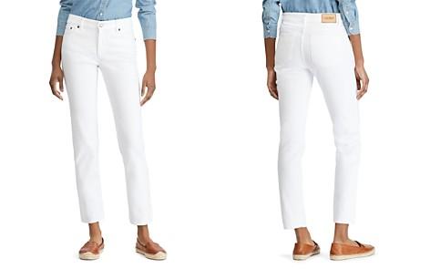 Lauren Ralph Lauren Straight Leg Jeans in White - Bloomingdale's_2