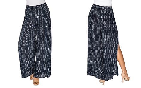 B Collection by Bobeau Ita Side-Slit Dot-Printed Pants - Bloomingdale's_2