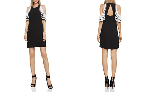 BCBGMAXAZRIA Cold-Shoulder Crepe Dress - Bloomingdale's_2
