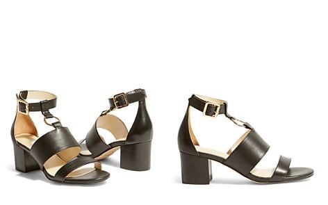 KAREN MILLEN Women's Leather Block Heel Sandals - Bloomingdale's_2