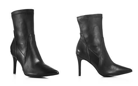 Charles David Women's Laurent Stretch Leather Pointed Toe Booties - Bloomingdale's_2