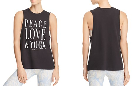 Spiritual Gangster Peace Love Yoga Tank - Bloomingdale's_2