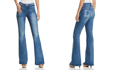 FRAME Le High Flared Jeans in Clapps - Bloomingdale's_2