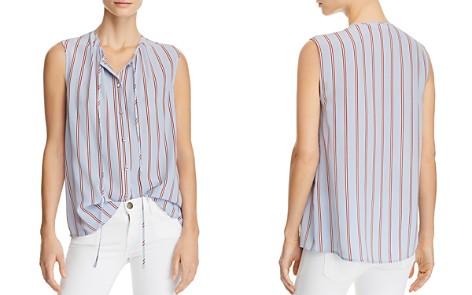 FRAME Striped Silk Top - Bloomingdale's_2
