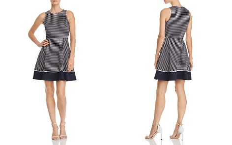 kate spade new york Striped Ponte Fit-and-Flare Dress - Bloomingdale's_2