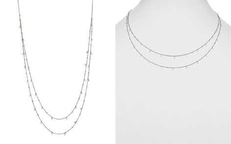"AeroDiamonds 18K White Gold Amanda Double Swag Diamond Necklace, 18"" - Bloomingdale's_2"