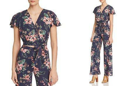 AQUA Floral Faux-Wrap Cropped Top - 100% Exclusive - Bloomingdale's_2