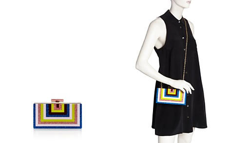 AQUA Rainbow Stripe Geometric Clutch - 100% Exclusive - Bloomingdale's_2