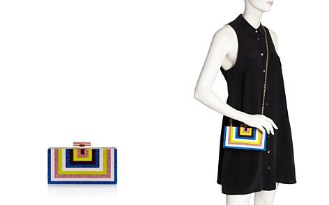 AQUA Rainbow Stripe Geometric Clutch - 100% Exclusive - Bloomingdale's_2