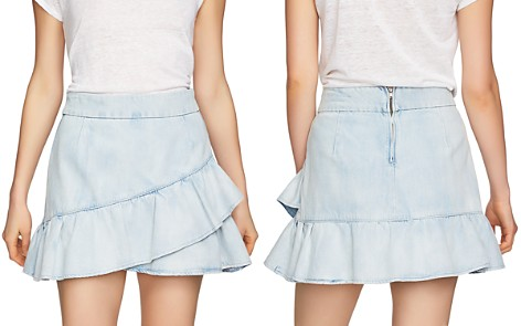 1.STATE Flounced Denim Mini Skirt - Bloomingdale's_2