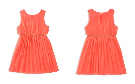 kate spade new york Girls' Pleated Glitter Dress - Big Kid - Bloomingdale's_2