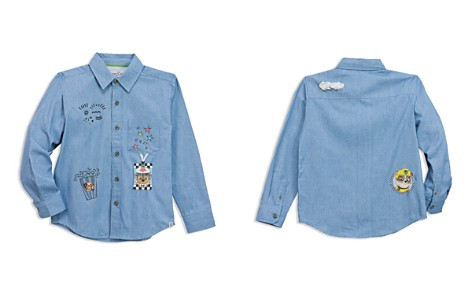 Sovereign Code x Nickelodeon Boys' PAW Patrol© Patch Printed Chambray Shirt, Little Kid - 100% Exclusive - Bloomingdale's_2