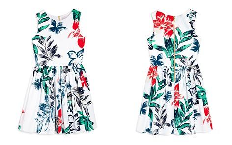 AQUA Girls' Floral-Print Fit-and-Flare Dress, Big Kid - 100% Exclusive - Bloomingdale's_2