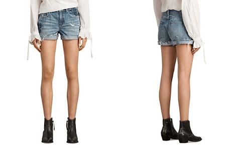 ALLSAINTS Pam Rose Denim Shorts in Indigo Blue - Bloomingdale's_2