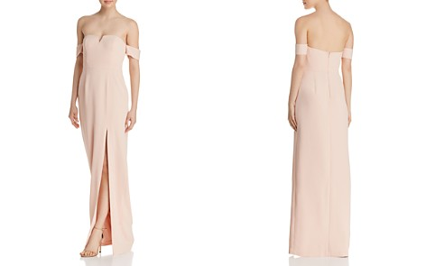 Aidan by Aidan Mattox Off-the-Shoulder Crepe Gown - 100% Exclusive - Bloomingdale's_2
