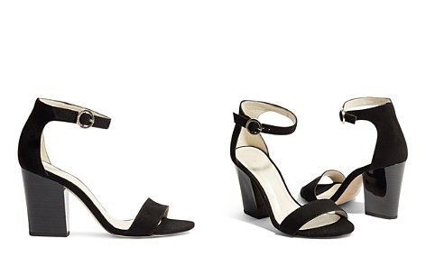 KAREN MILLEN Women's Suede Block Heel Sandals - Bloomingdale's_2