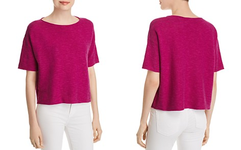 Eileen Fisher Ribbed Organic Linen & Cotton Top - Bloomingdale's_2