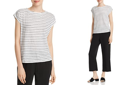 Eileen Fisher Striped Organic Cotton Tee - Bloomingdale's_2