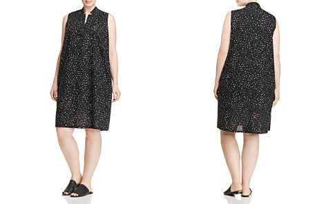 Eileen Fisher Plus Dotted Organic Cotton Dress - Bloomingdale's_2
