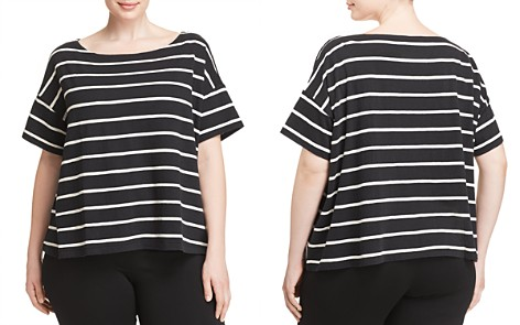 Eileen Fisher Plus Striped Boatneck Top - Bloomingdale's_2