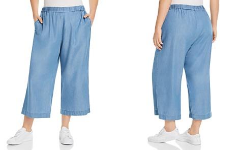 MICHAEL Michael Kors Plus Chambray Wide-Leg Crop Pants - Bloomingdale's_2