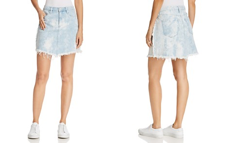 BLANKNYC Acid Wash Frayed Denim Skirt - Bloomingdale's_2